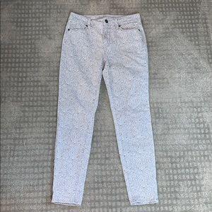 Ann Taylor Loft Floral Print Jeans